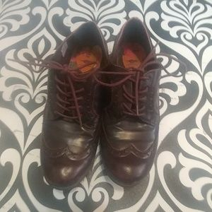 Maroon Oxford Shoes Sz9.5